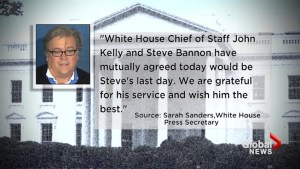 Steve Bannon out at White House Chief Strategist