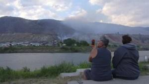 Wild fire threat in Kamloops