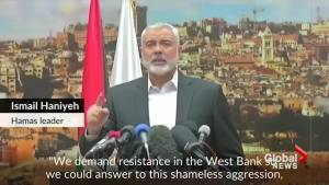 Hamas calls for renewed Holy War on Israel following Trump's declaration in Israel