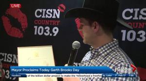 Garth Brooks Day declared in Edmonton by Mayor Don Iveson