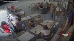Security camera footage shows alleged harasser punching victim in the face