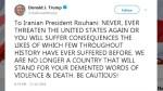 Trump warns Iran to 'never threaten the U.S.'