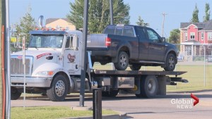 Stolen truck spotted speeding through Calgary seized by police