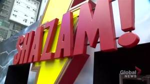 Shazam! fan experience takes over Yonge and Dundas Square (01:30)