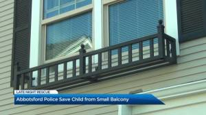 Abbotsford police save child from small ornamental balcony