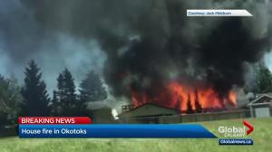 Okotoks house fire started at back of home: officials