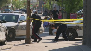 RAW: One man in custody while another in hospital after downtown Winnipeg assault