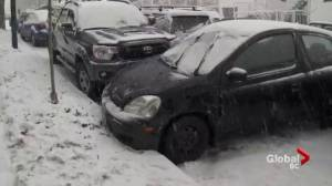 Another round of snow on the South Coast causes havoc (02:22)