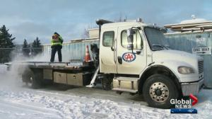 What's a snowy day like for AMA tow truck drivers