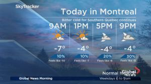 Global News Morning weather forecast: Thursday, November 15