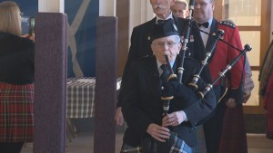 Bagpipe from Juno Beach still being played in Halifax
