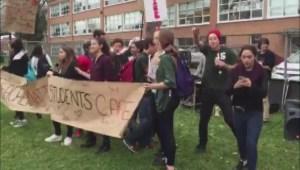 RAW: Students at Macdonald High School walk out