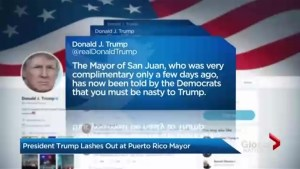 Trump slams mayor of Puerto Rico's capital over Hurricane Maria recovery