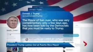 Trump slams mayor of Puerto Rico's capital over Hurricane Maria recovery