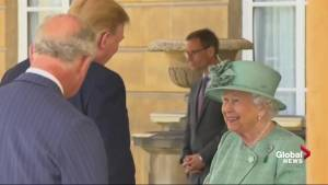 Trump, First Lady greeted by Queen Elizabeth II at Buckingham Palace