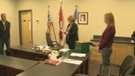 Watch the name being pulled out of a box to determine who will be the mayor of Peachland after judicial recount verifies a tie