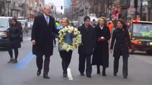 Boston marks 5th anniversary of bombing with somber ceremonies