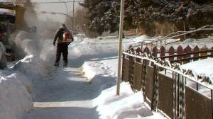 When are you responsible for snow clearing in Calgary?