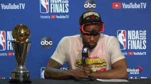 NBA Finals: Kawhi Leonard talks about going from injury to championship