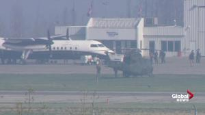 PM Justin Trudeau arrives in Fort McMurray