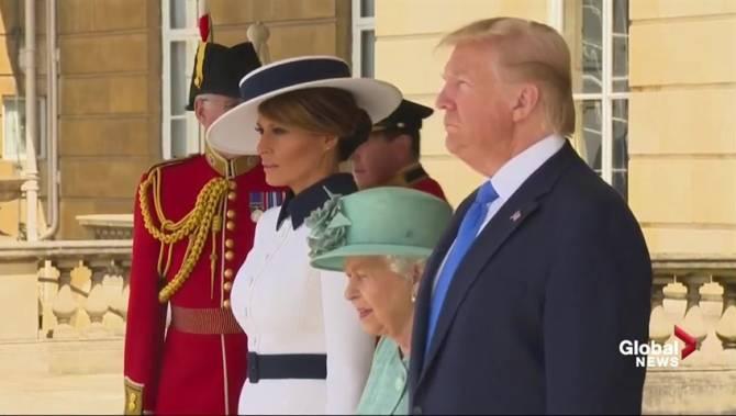 Donald Trump kicks off British visit with tweet against