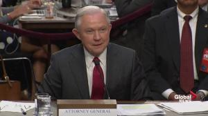 Jeff Sessions explains his role in the firing of James Comey