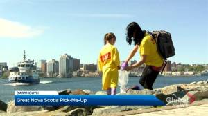 Volunteers clean up Dartmouth Landing for World Oceans Day