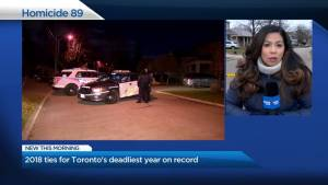 89th homicide marks Toronto's deadliest year on record since 1991