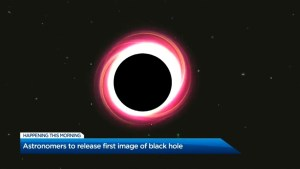 Astronomers to release first-ever image of a black hole