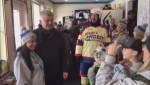 Oilers head coach Todd McLellan visits World's Longest Hockey Game