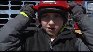Peterborough boy recognized for quick actions to help his family in a morning house fire