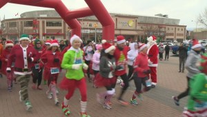 The Salvation Army's annual Santa Shuffle sets new record.