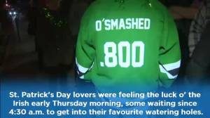 Halifax revelers brave long lines to get an early start on St. Patty's Day festivities