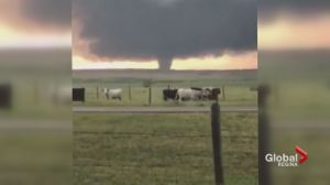 Tornado caught on camera in south Sask.
