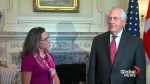 Tillerson comments on violence in Virginia during bilateral meeting with Chrystia Freeland