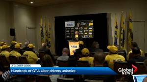 Hundreds of GTA Uber drivers join union