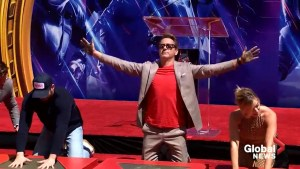 Avengers stars place handprints in concrete ahead of 'Endgame' release