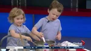 Claire Gallant from the Bite-Sized Kitchen teaches kids how to cook