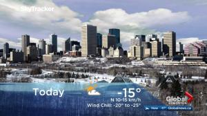Edmonton early morning weather forecast: Thursday, February 8, 2018