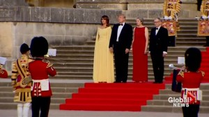 Trump arrives at Blenheim Palace in first visit as U.S. president