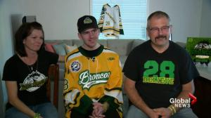 Humboldt Broncos player Layne Matechuk leaves hospital after 6 month stay