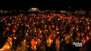 Candlelight vigil held at University of Virginia campus in support of Charlottesville victims