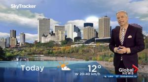 Edmonton early morning weather forecast: Monday, October 23, 2017