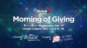 How to help Global Calgary's 2017 Morning of Giving