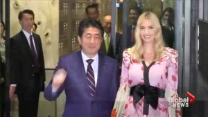 Ivanka Trump meets with Shinzo Abe ahead of her father's visit
