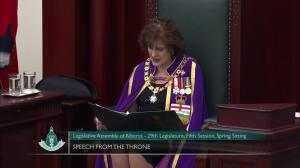 'We remain on track to balance the budget by 2023': Alberta throne speech