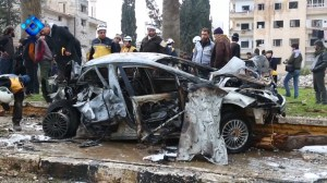 Twin blasts in rebel-held Syrian city kill at least 15