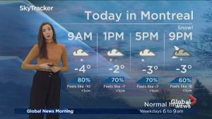 Global News Morning weather forecast: Friday, November 16