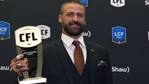 Edmonton Eskimos QB Mike Reilly says CFL Outstanding Player award for whole team