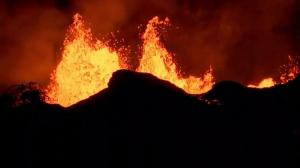 Stunning lava fountains causing toxic gas concerns for geologists